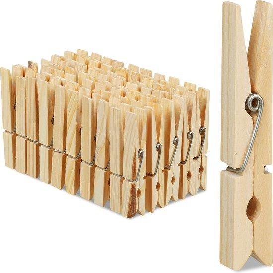 Houten wasknijpers   30 x 48 stuks