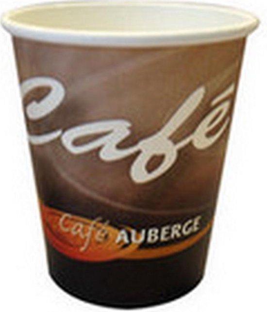 Cafe Auberge | Koffiebeker | Karton | 250 ml | 1000 stuks