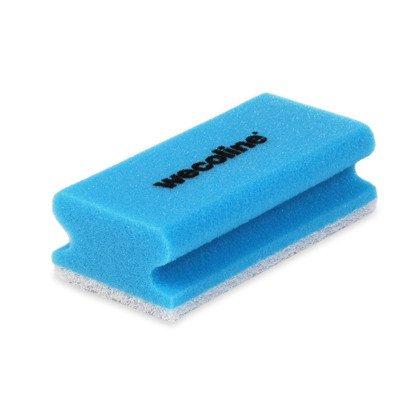 Wecoline | Schuurspons met grip | Blauw-wit | 10 stuks