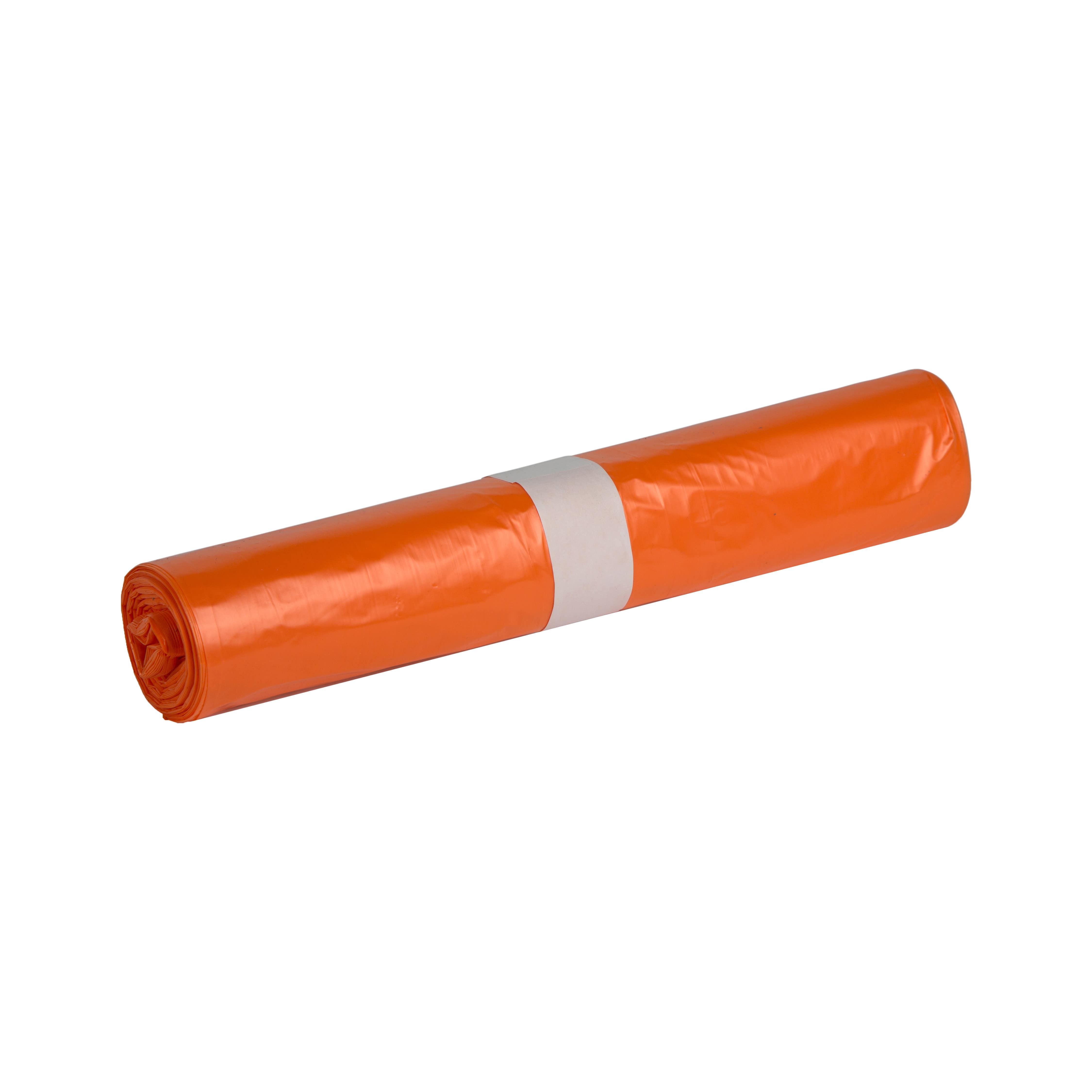 Afvalzak | Oranje | 58 x 100 cm | 20 x 25 zakken