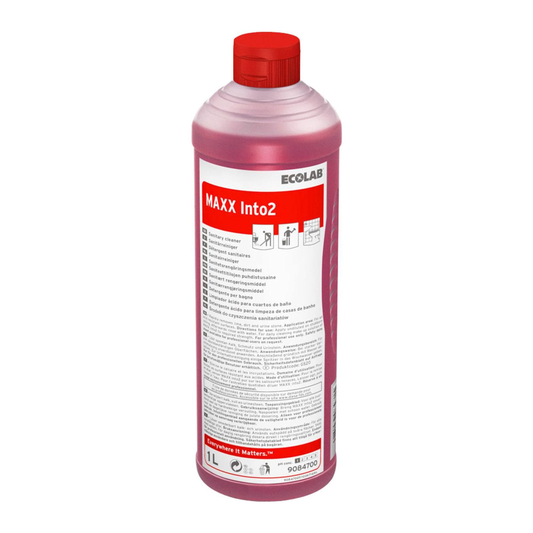 Ecolab | Maxx into C2 | Sanitairreiniger | Universeel | Fles 12 x 1 liter