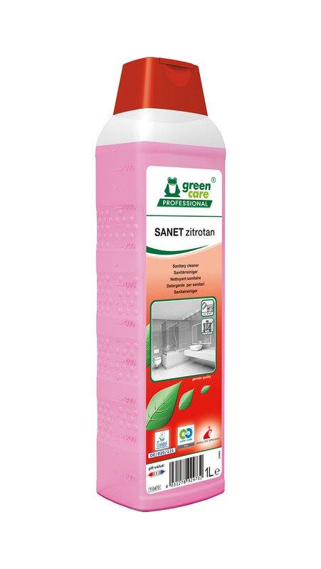 Green Care | Sanet Zitrotan | Sanitairreiniger | Fles 10 x 1 liter