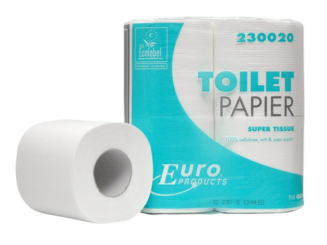 Euro Products | Toiletpapier | 2-laags | Tissue wit | 48 x 200 vel
