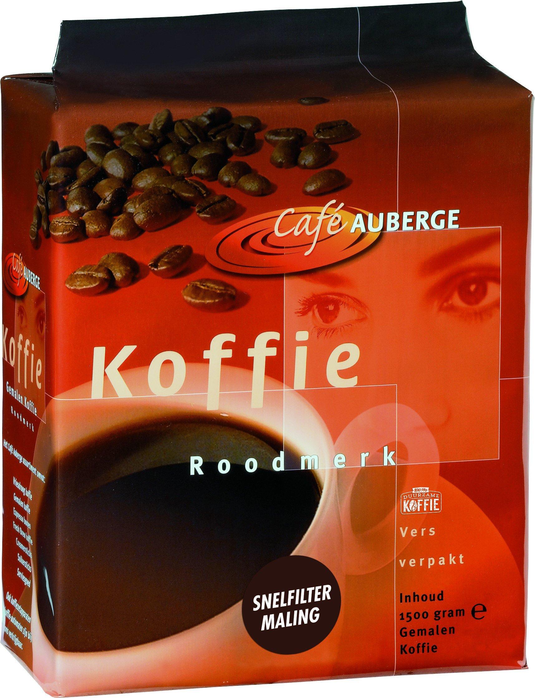 Cafe Auberge | Roodmerk Snelfilter | Doos 4 x 1,5 kg