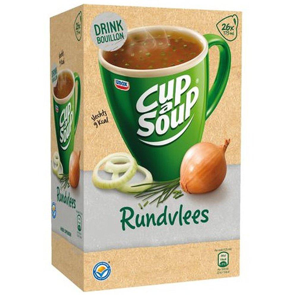 Unox Cup-a-Soup Runderbouillion bieslook, 175ml a 21 zakjes