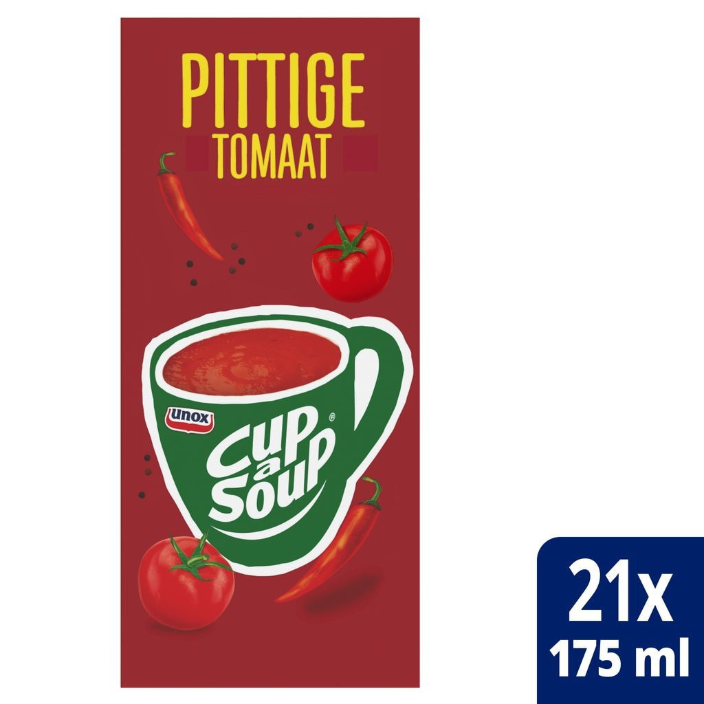 Cup-a-Soup | Spicy tomaat | 21 x 175 ml