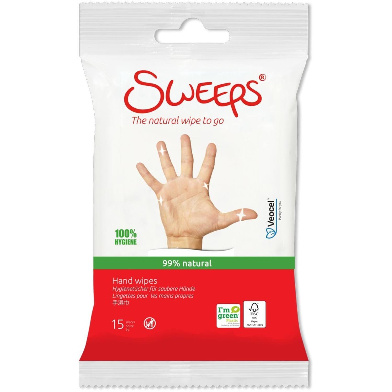 Sweeps Wipes | Handdesinfectie-doekjes | 12 x 15 doekjes