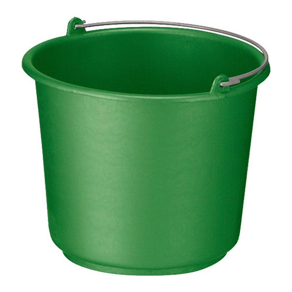Bouwemmer met hengsel 12 liter groen 12 stuks