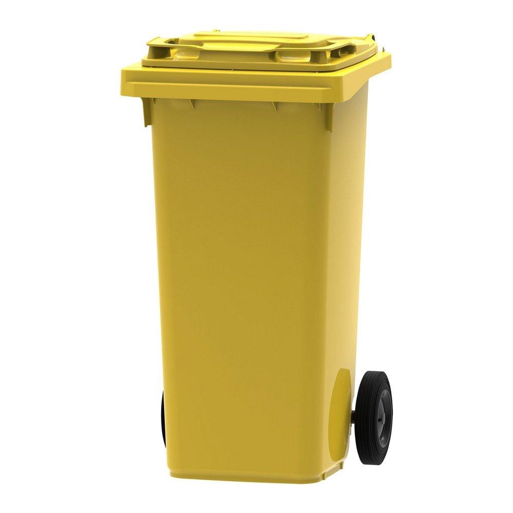 Mini rolcontainer 120 liter geel