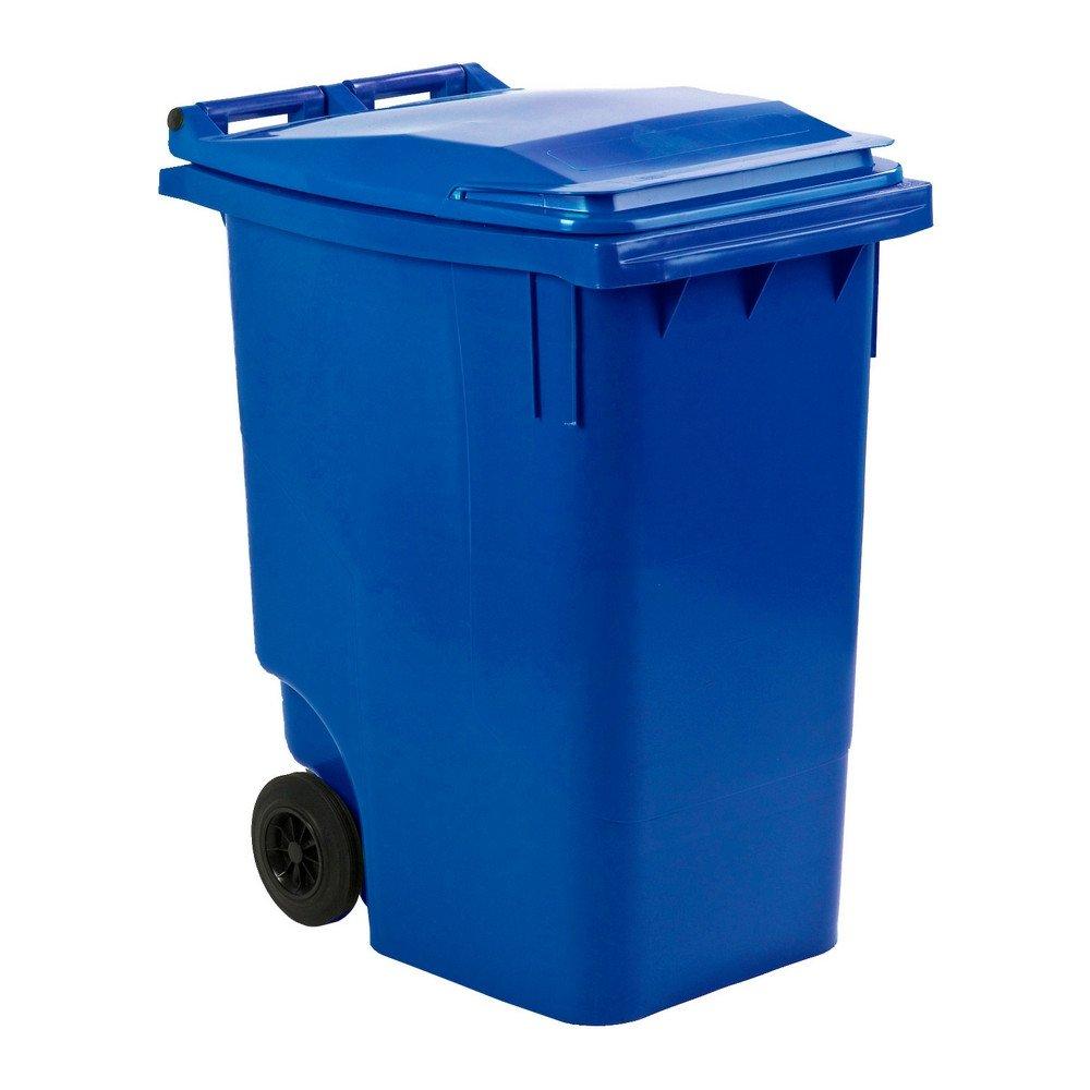 Mini rolcontainer 360 liter blauw