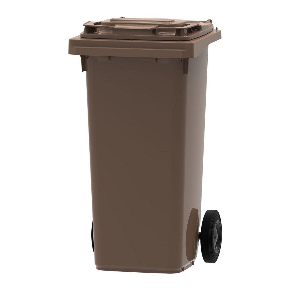 Mini rolcontainer 120 liter bruin