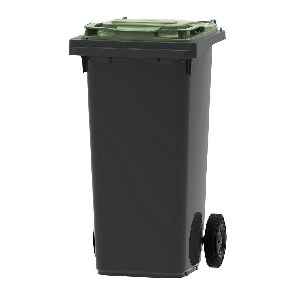 Mini-container | Grijs/groen | Inhoud: 120 liter