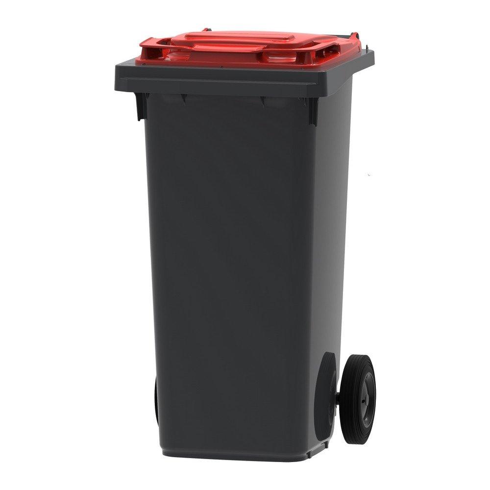 Mini-container | Grijs/rood | Inhoud: 120 liter