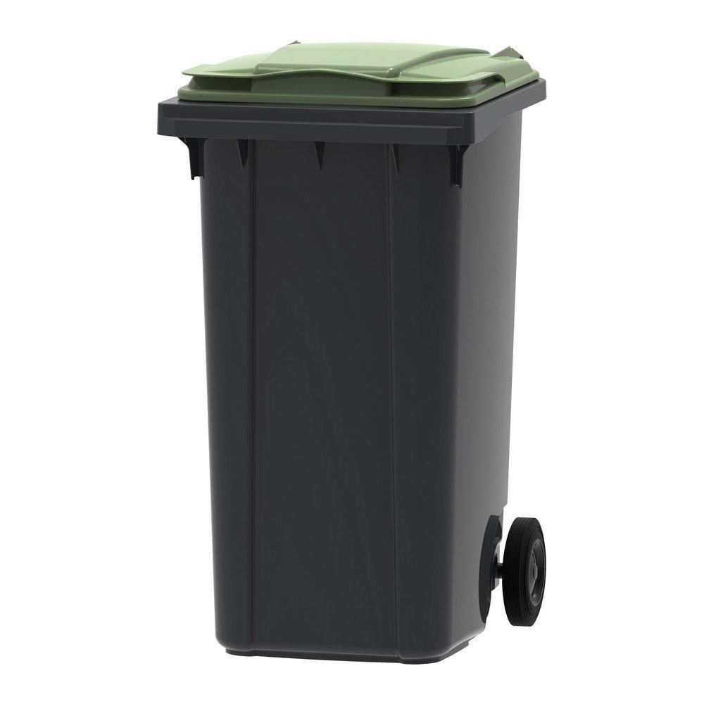 Mini-container 240 liter grijs/groen
