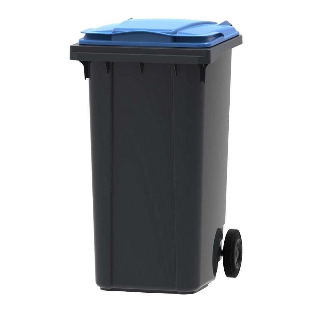 Mini-container 240 liter grijs/blauw