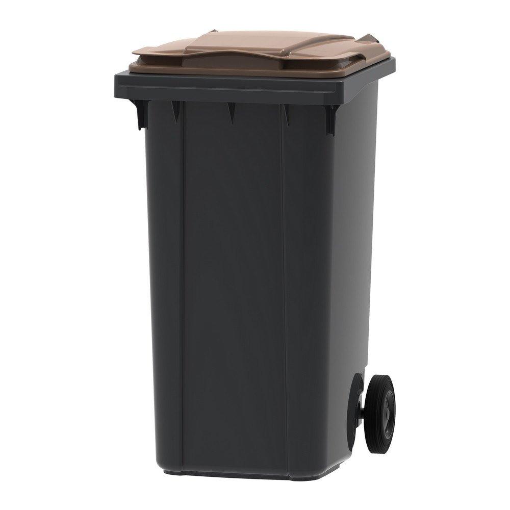 Mini-container 240 liter grijs/bruin
