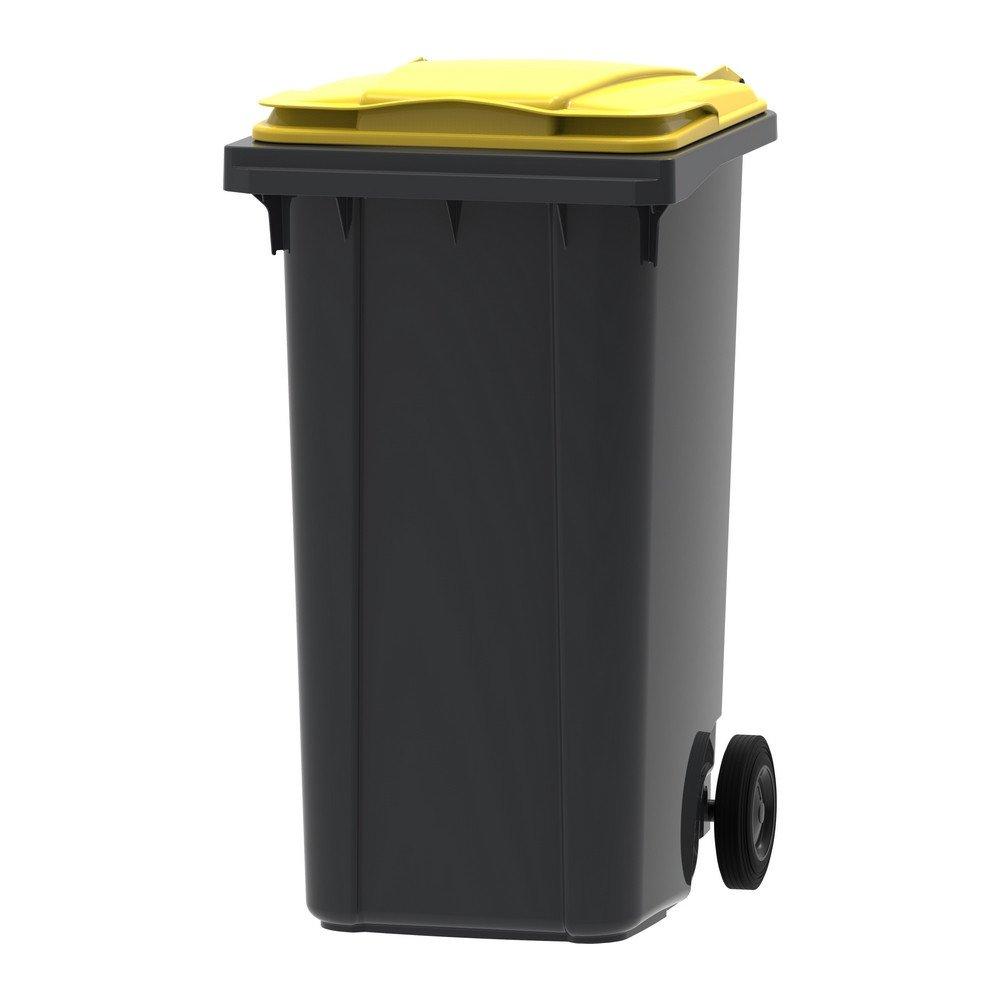 Mini-container 240 liter grijs/geel