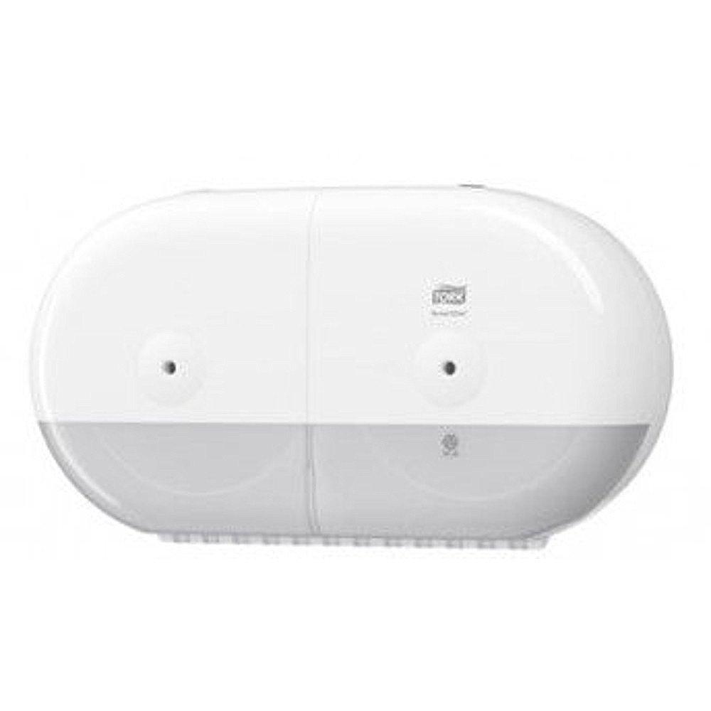 Tork Smartone T9 Twin Mini Toiletpapierdispenser wit-grijs