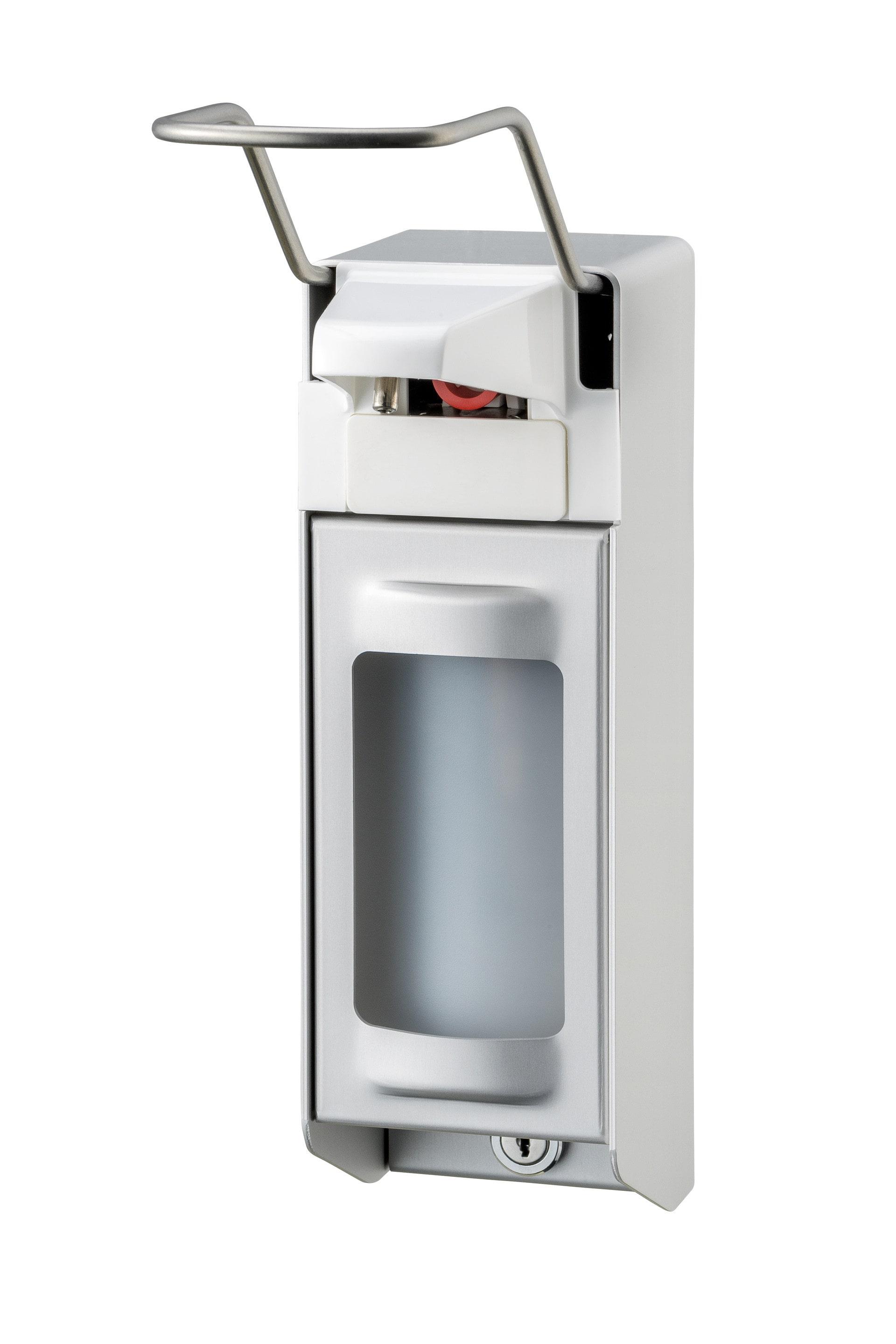 Zeep- & desinfectiemiddeldispenser 500 ml LB aluminium