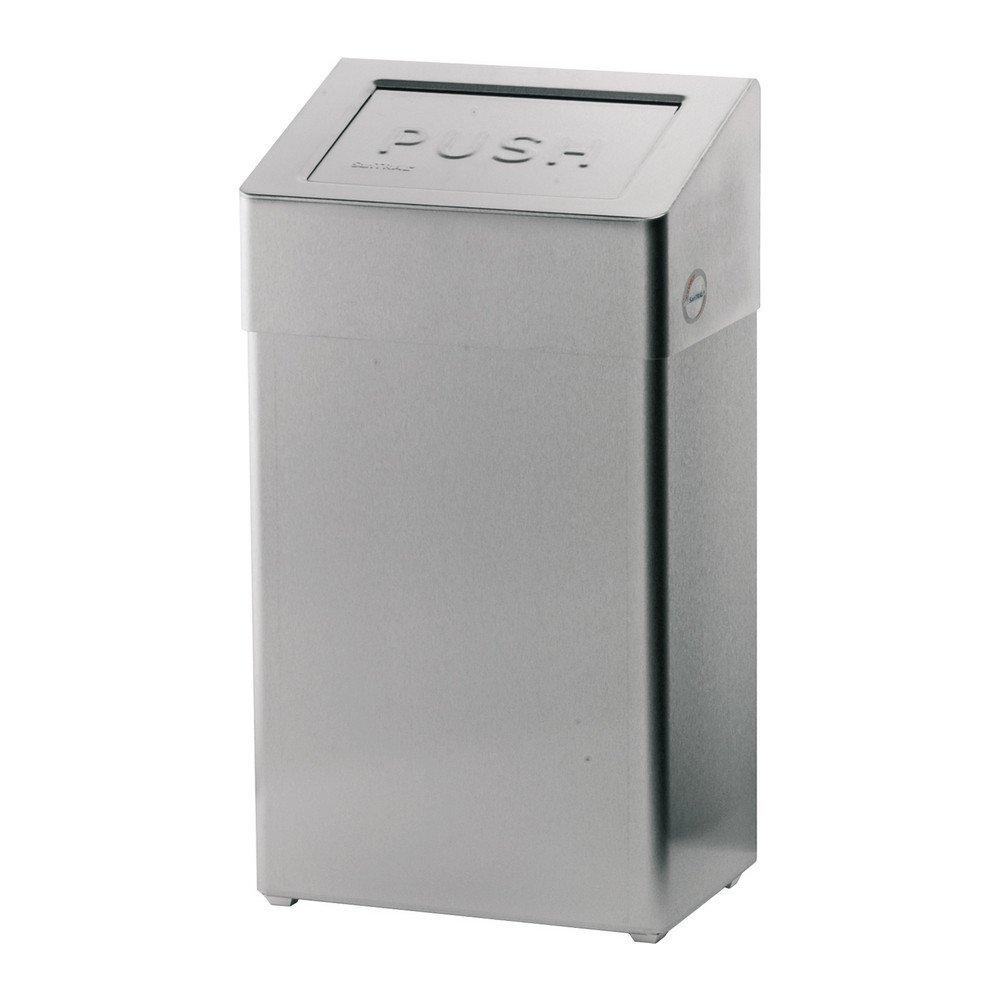 Afvalbak 20 ltr Santral RVS met zelfsluitende klep