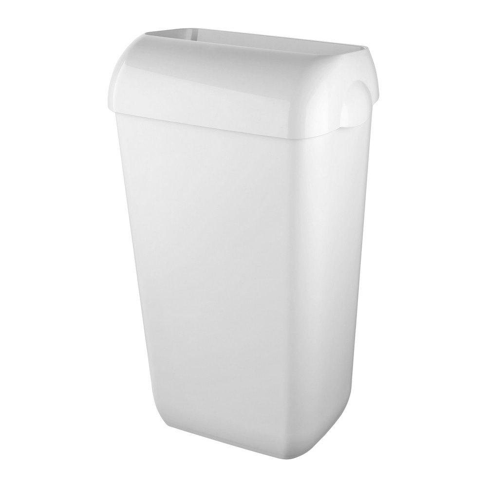 Afvalbak 23 liter kunststof wit