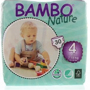 Bambo   Luiers   4 Maxi   9-18 kg   30 stuks   26cnt per luier