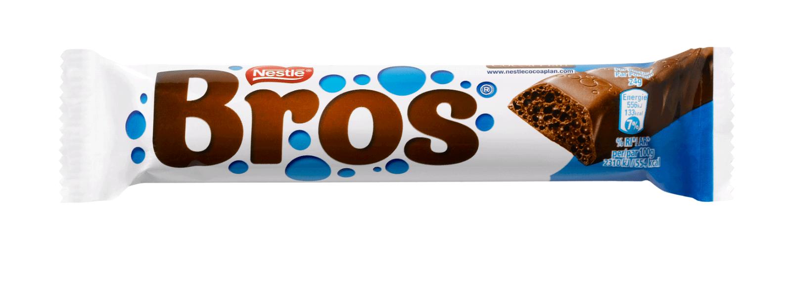 Bros   Luchtige chocoladereep   Doos 40 x 18 gram