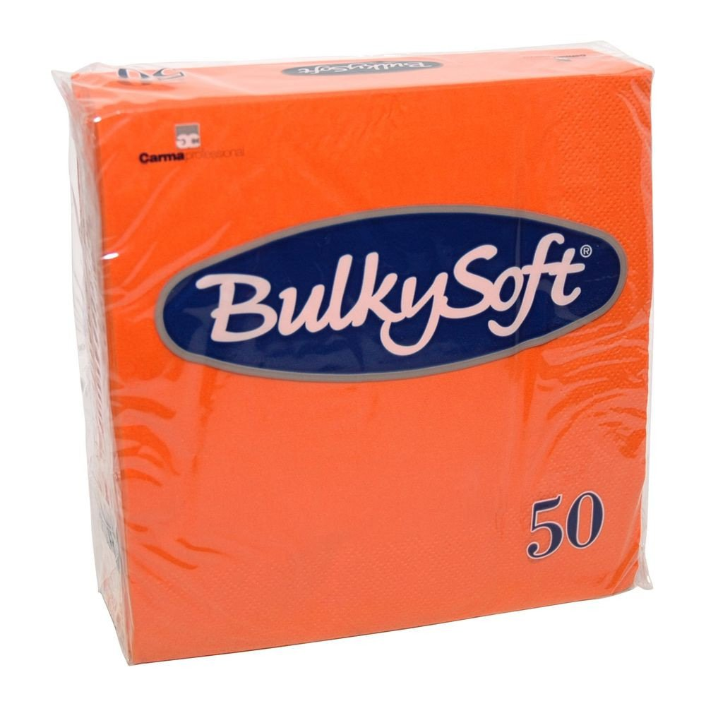 Bulkysoft Servetten 2-laags kleur oranje 33x33cm 1200 stuks