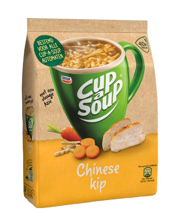 Cup-a-Soup | Automatensoep | Chinese kip | Zak 4 stuks