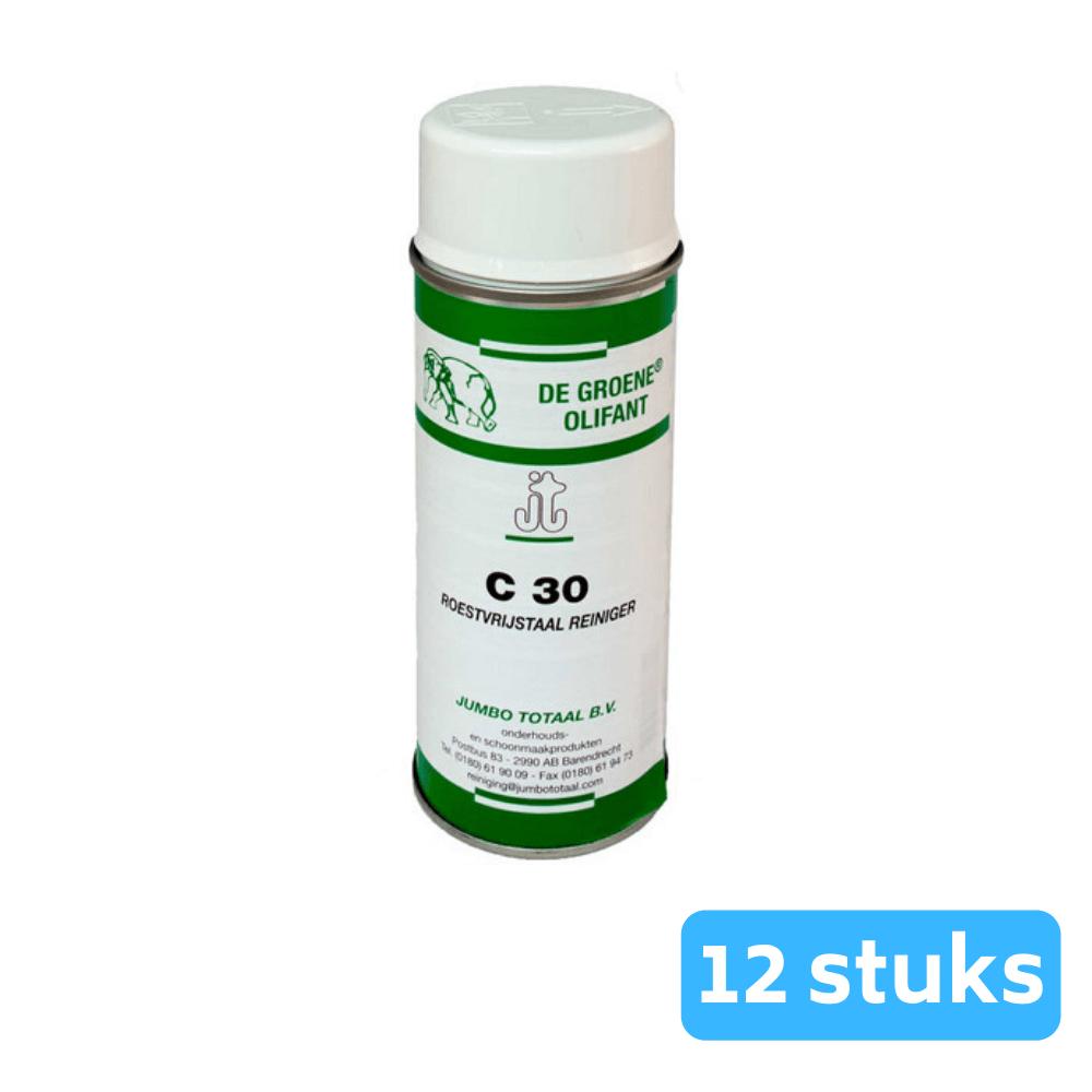 De Groene Olifant C30 RVS-reiniger 12 x 400 ml