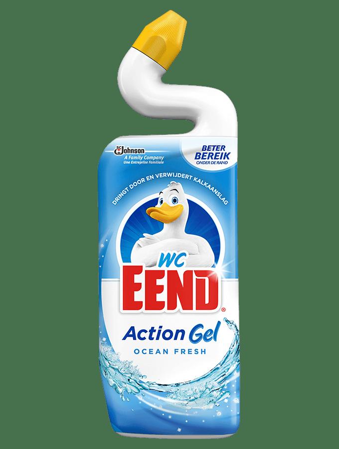 WC eend | Toiletreiniger | Ocean Fresh | Fles 12 x 750 ml