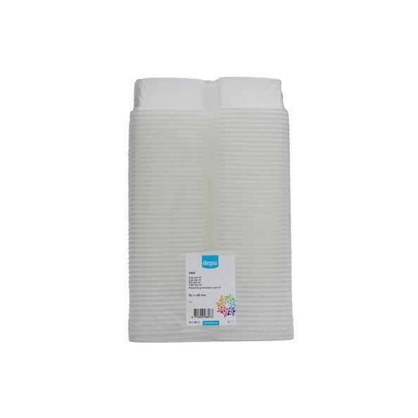 Depa Cup   Rechthoekig & Transparant zonder deksel   250 ml   100 stuks