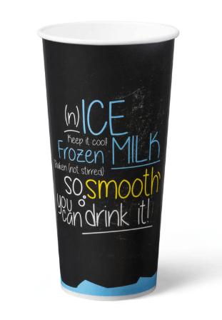 Milkshakebeker Ice is Nice karton 500 ml Blauw 20 x 50 stuks