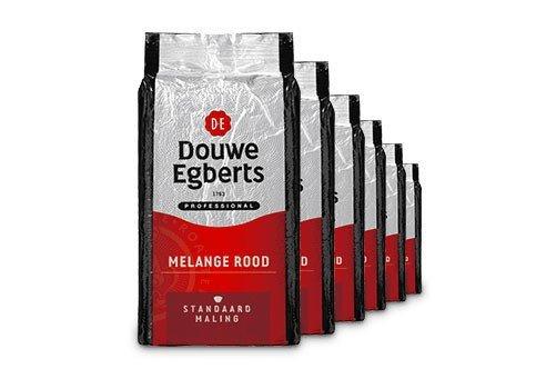 Douwe Egberts | Melange Rood Snelfilter | Doos 6 x 1 kg