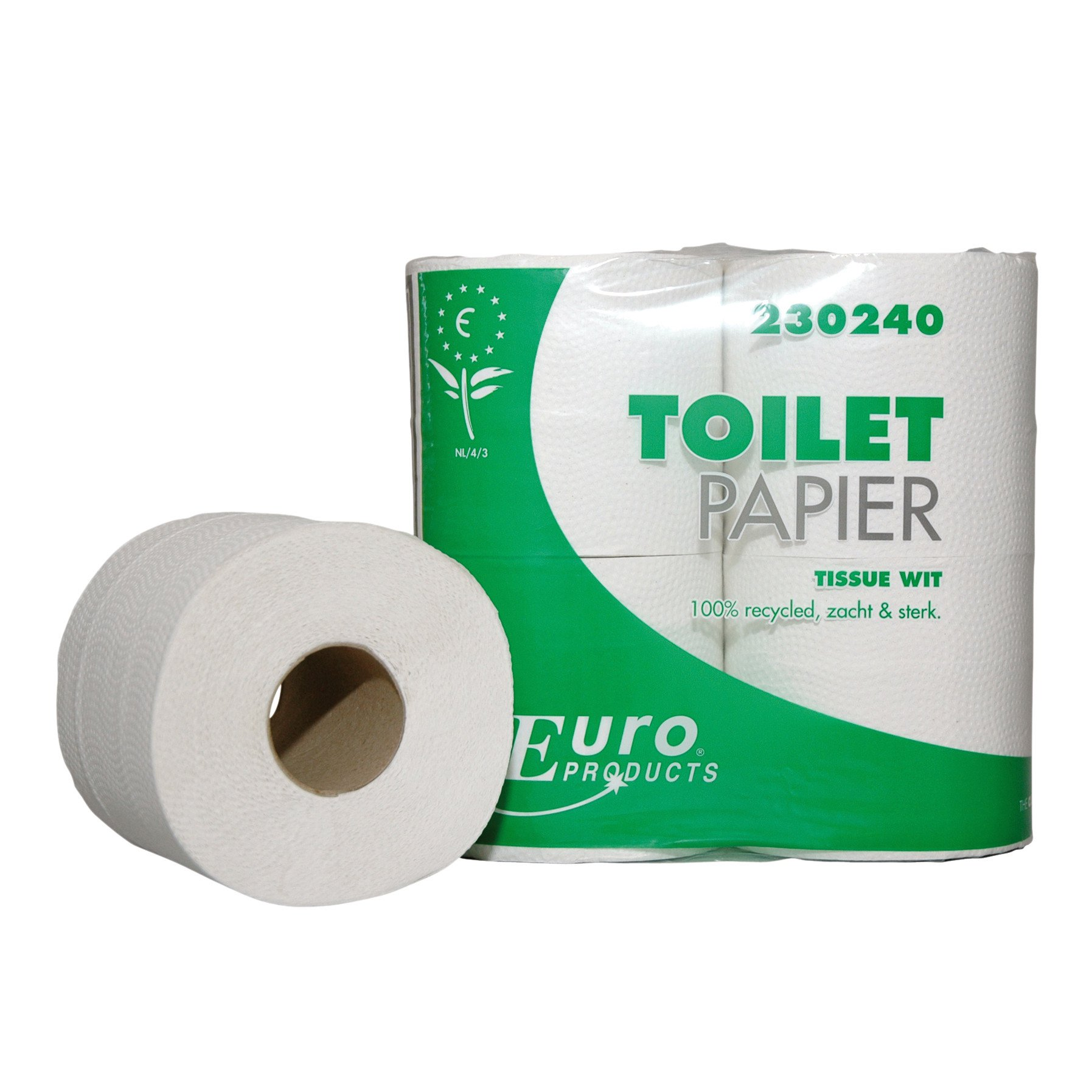 Euro Products | Toiletpapier | 2-laags recycled | Wit | 40 x 400 vel