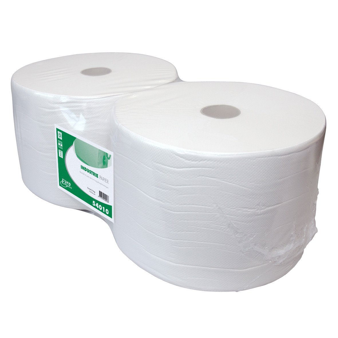 Euro Products | Industriepapier | 1- laags recycled | Wit | 2 x 1000 meter