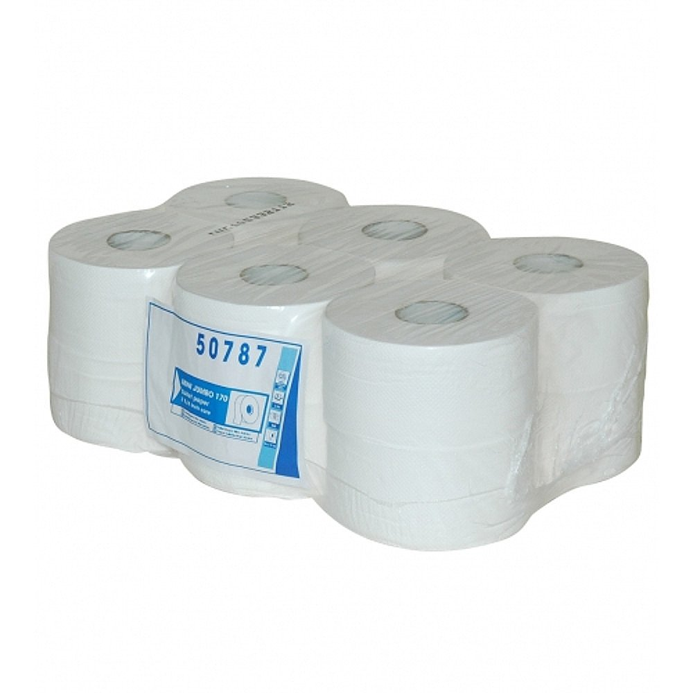 Mini Jumbo toiletpapier cellulose 2-laags 12 x 150 meter
