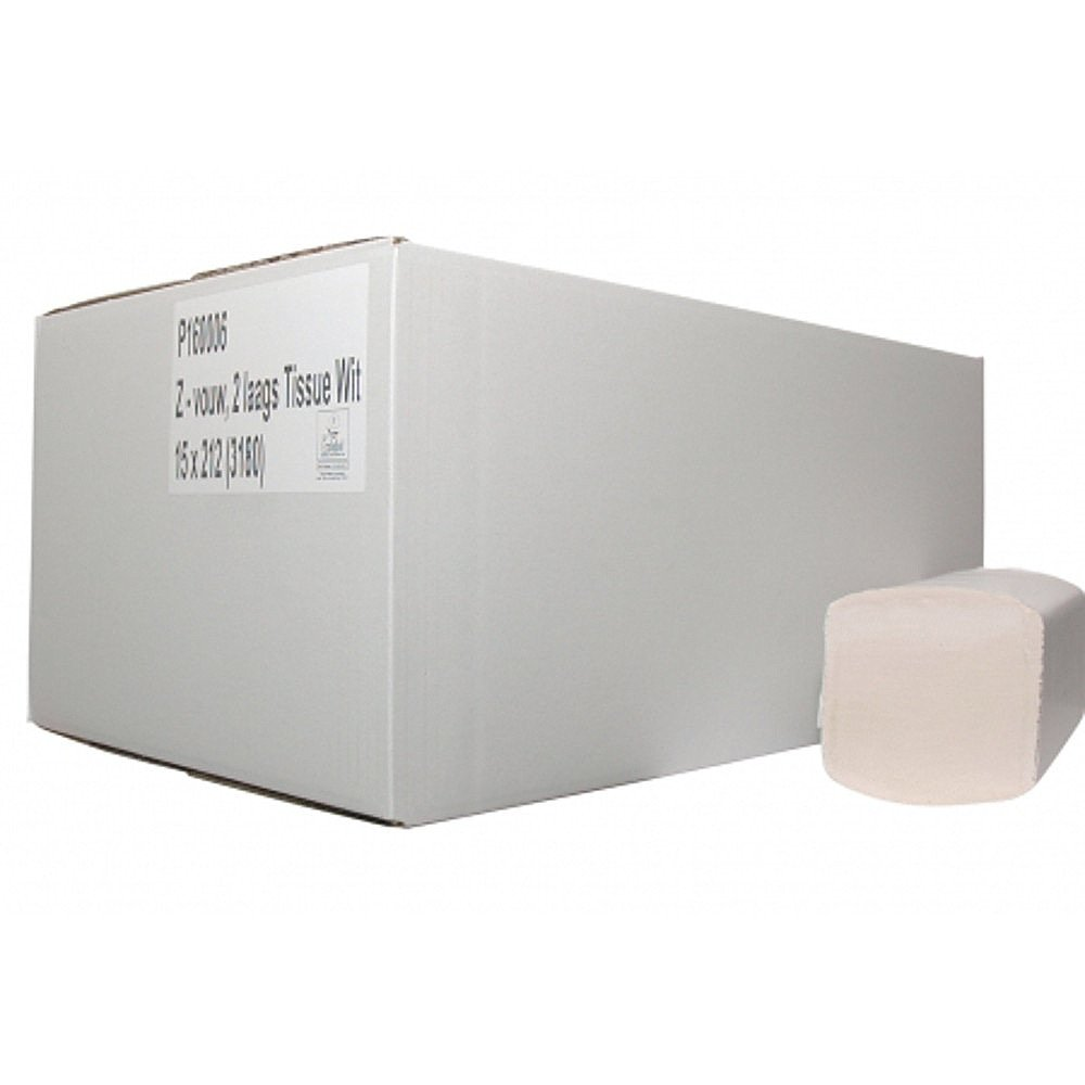 Euro Products | Vouwhanddoekjes | 2-laags recycled tissue | Z-vouw | 21 x 24 cm | 3990 stuks