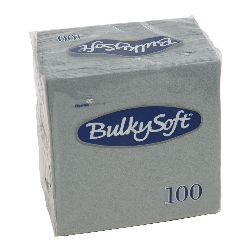 Bulkysoft Gekleurde servet 2-laags grijs 1/4 vouw 24x24cm 3000 stuks