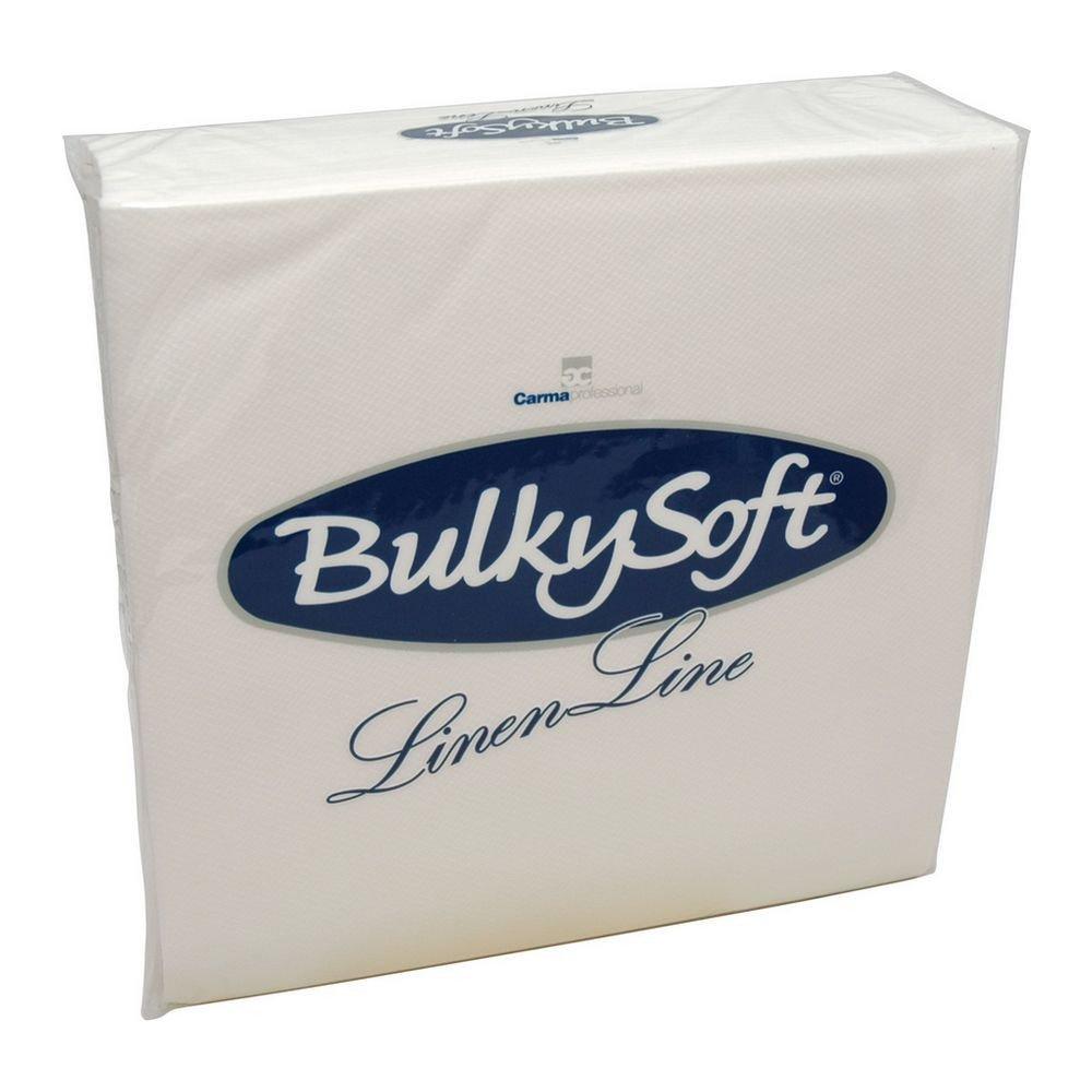 Bulkysoft Luxe airlaid servetten wit 50x50cm 1/4 vouw 300 stuks