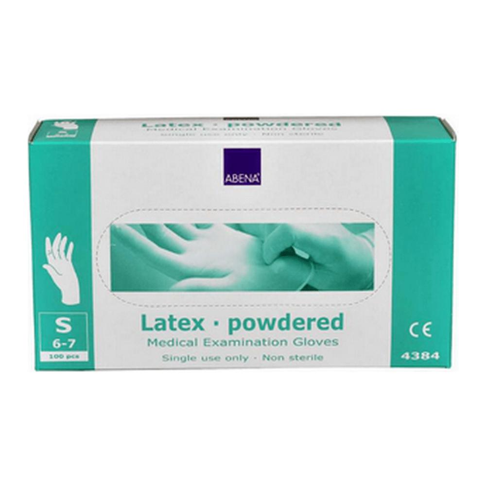 Handschoen latex wit gepoederd S 100 stuks