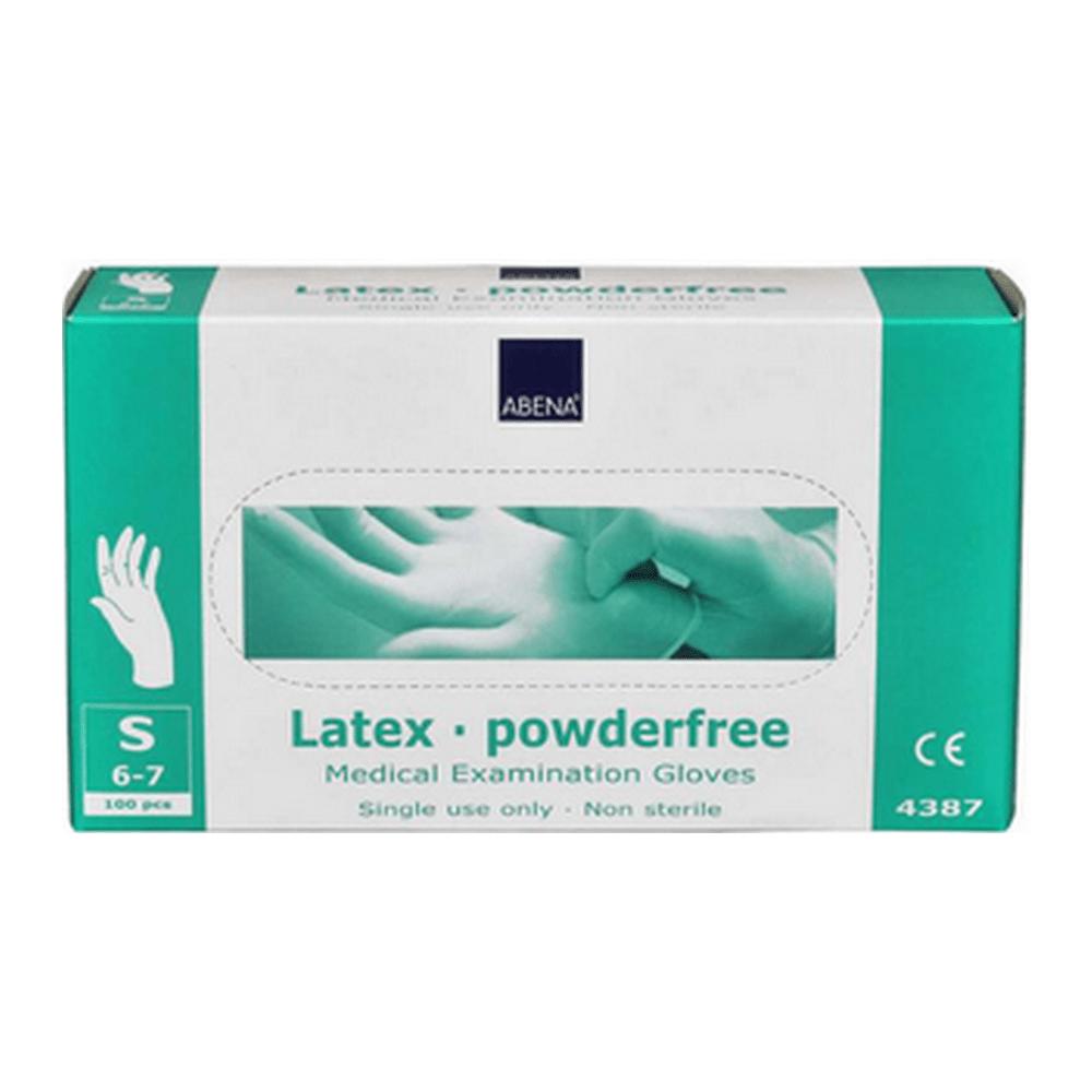 Handschoen latex wit poedervrij small a100