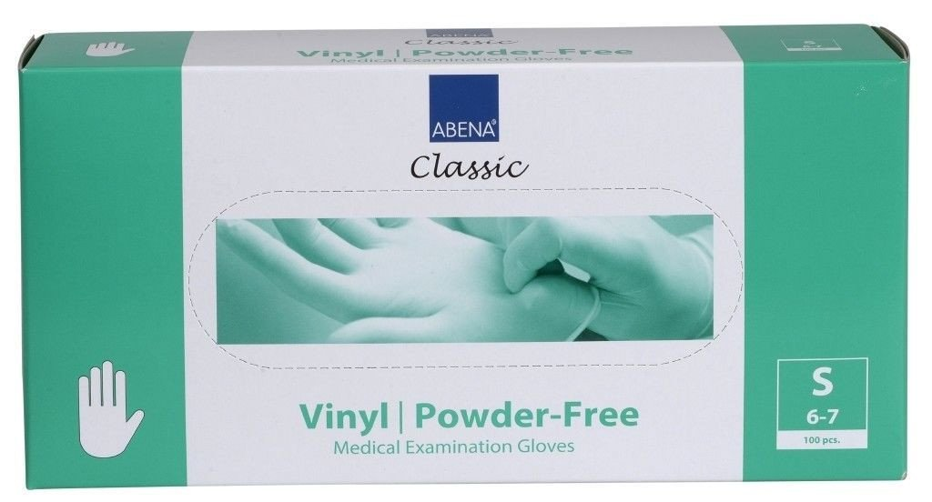 Handschoen | Vinyl | Poedervrij | Small | Blauw | 100 hanschoenen
