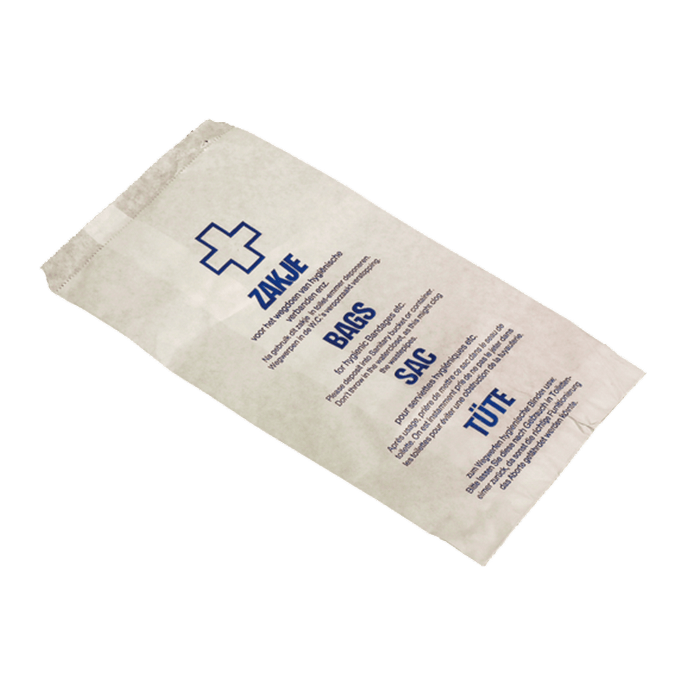 Hygiënezakjes papier 150 x 255 ml 1000 stuks