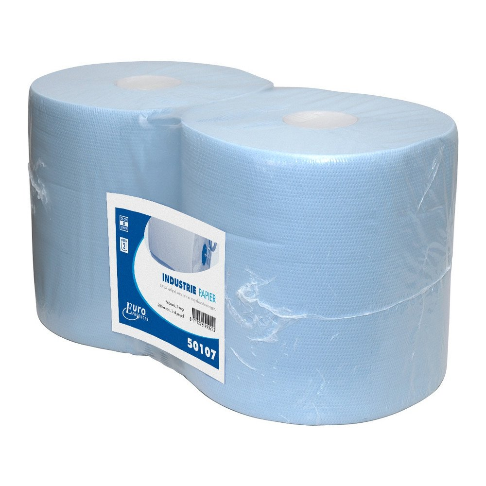 Industriepapier blauw verlijmd 2-lg 2x190mtr 26cm