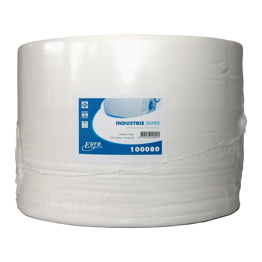Industriepapier cellulose wit 2-lg 1x800mtr 29cm