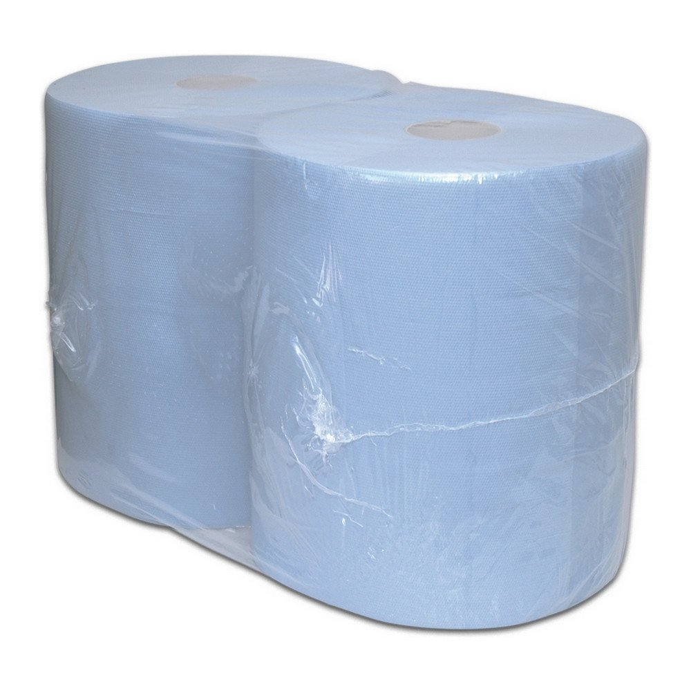 Industriepapier blauw verlijmd 2-lg 2x380mtr 37cm