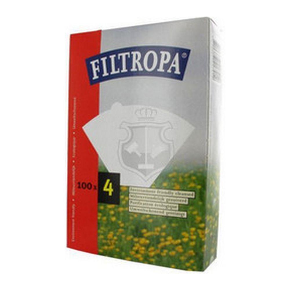 Filtropa koffiefilters no. 4 wit, 4 x 100 stuks
