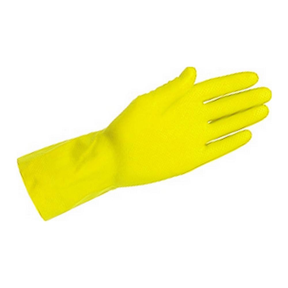 Latex Handschoen ansel geel maat L