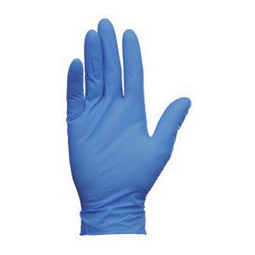 Handschoenen latex blauw ongepoederd L a 100